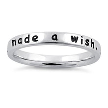 "Load image into Gallery viewer, Sterling Silver ""I made a wish, you came true"" Ring"