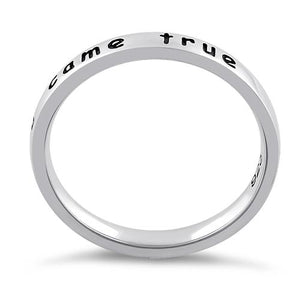 "Sterling Silver ""I made a wish, you came true"" Ring"