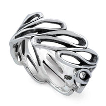 Load image into Gallery viewer, Sterling Silver Infinite Wave Ring