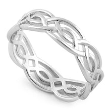 Load image into Gallery viewer, Sterling Silver Infinity Celtic Ring