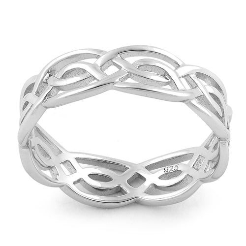 Sterling Silver Infinity Celtic Ring
