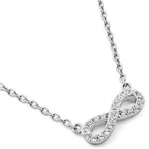 Sterling Silver Infinity CZ Necklace