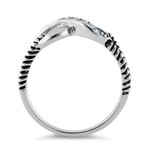 Load image into Gallery viewer, Sterling Silver Infinity CZ Ring