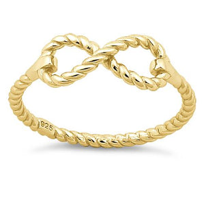 Sterling Silver Infinity Gold Plated Ring