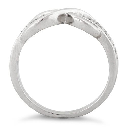 Sterling Silver Infinity Pave CZ Ring