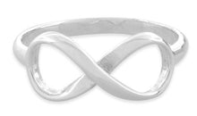 Load image into Gallery viewer, Sterling Silver Infinity Ring