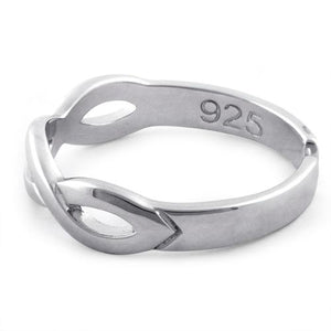 Sterling Silver Infinity Sign Adjustable Ring