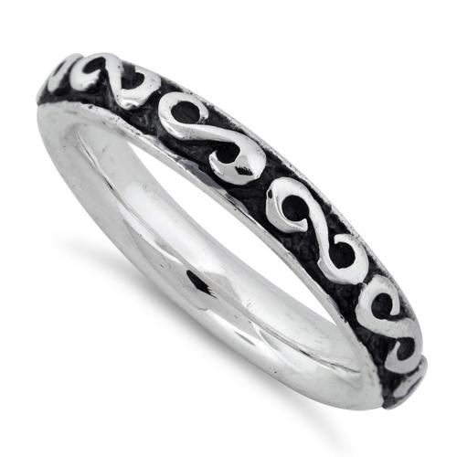 Sterling Silver Infinity Stackable Ring