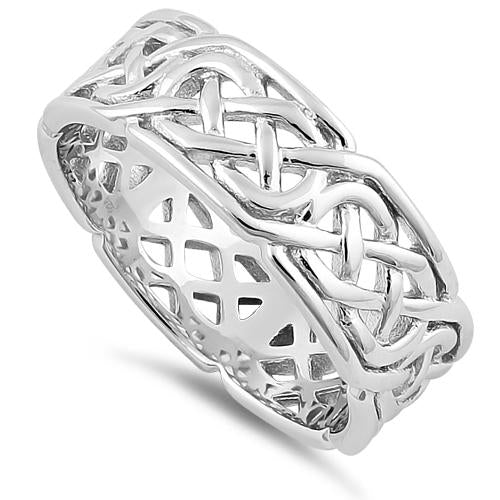Sterling Silver Interwoven Band Ring