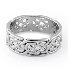 Load image into Gallery viewer, Sterling Silver Interwoven Band Ring