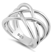 Load image into Gallery viewer, Sterling Silver Interwoven Wavelength Ring