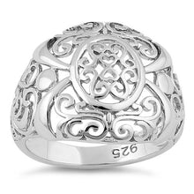Load image into Gallery viewer, Sterling Silver intricate Hearts & Vines Ring