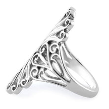 Load image into Gallery viewer, Sterling Silver Intricate Curly Hearts Ring