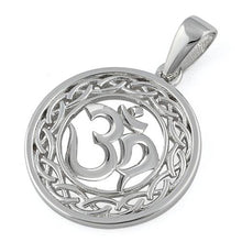 "Load image into Gallery viewer, Sterling Silver Intricate ""Om"" Pendant"