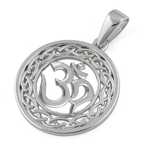 "Sterling Silver Intricate ""Om"" Pendant"