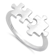 Load image into Gallery viewer, Sterling Silver Jigsaw Pieces Ring