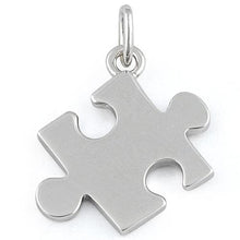 Load image into Gallery viewer, Sterling Silver Jigsaw Puzzle Piece Pendant