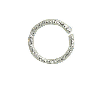 Sterling Silver Jump Rings Glitter Open (21GA ) 6mm - PACK OF 25