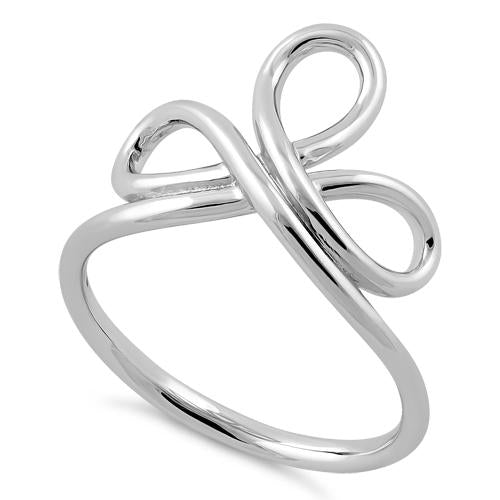 Sterling Silver Lace Ribbon Ring