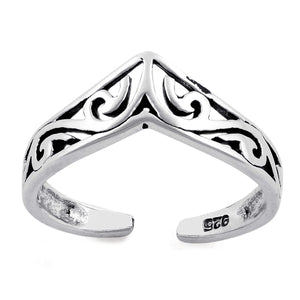 Sterling Silver Ladies Toe Ring