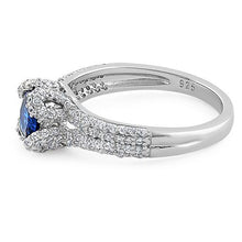 Load image into Gallery viewer, Sterling Silver Lavish Oval Cut Blue Spinel CZ Ring