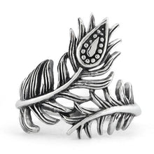 Load image into Gallery viewer, Sterling Silver Leaf Flower Ring