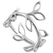 Load image into Gallery viewer, Sterling Silver Leaves Shape Ring