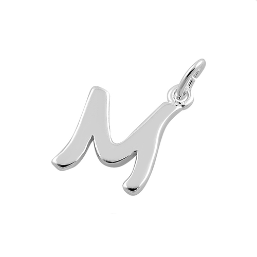 Sterling Silver Letter M Pendant