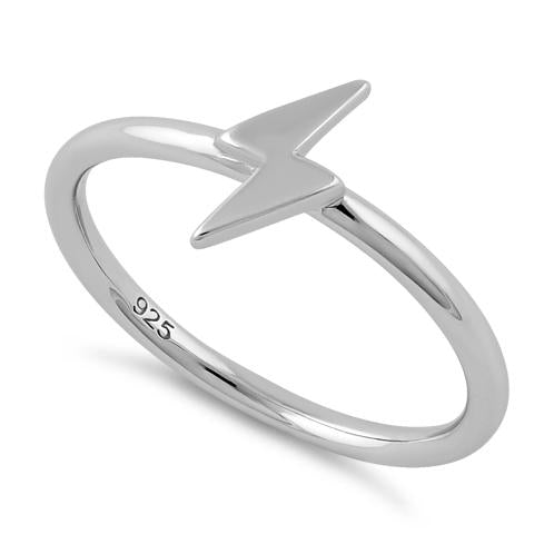 Sterling Silver Lightning Ring