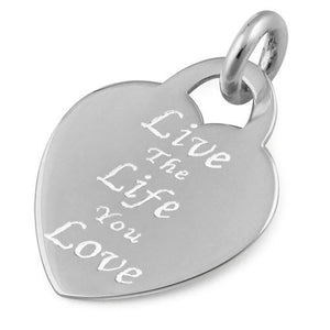 "Sterling Silver ""Live The Life You Love"" Pendant"