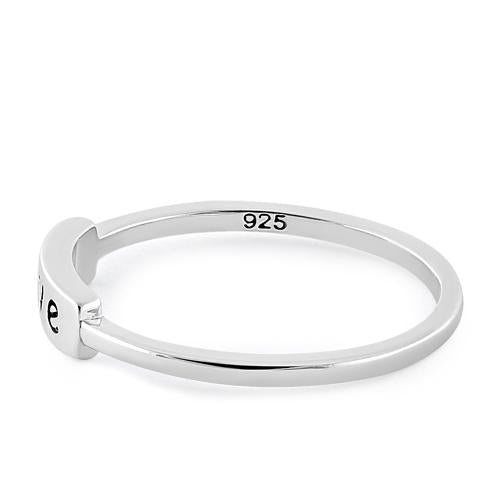 "Sterling Silver ""Love"" Ring"