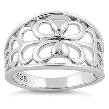Load image into Gallery viewer, Sterling Silver Lover's Heart Reflection Ring