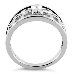 Sterling Silver Lover's Heart Reflection Ring