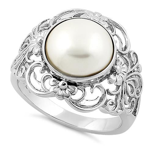 Sterling Silver Majestic Mother Of Pearl Ring