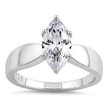 Load image into Gallery viewer, Sterling Silver Marquise Clear CZ Ring