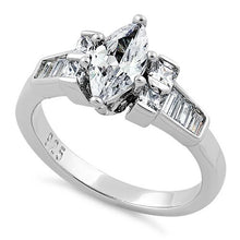 Load image into Gallery viewer, Sterling Silver Marquise CZ Ring