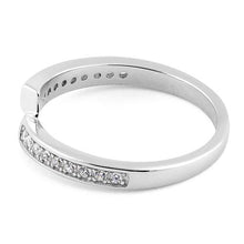 Load image into Gallery viewer, Sterling Silver Meet Me Half Way CZ Ring