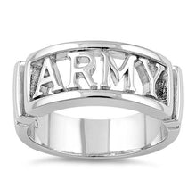 Load image into Gallery viewer, Sterling Silver Men's ARMY Ring
