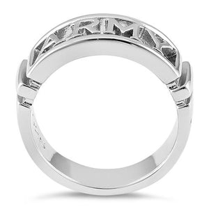 Sterling Silver Men's ARMY Ring