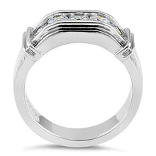 Load image into Gallery viewer, Sterling Silver Men's Engagement CZ Rings