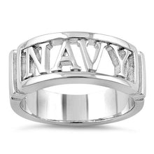 Load image into Gallery viewer, Sterling Silver Men's NAVY Ring