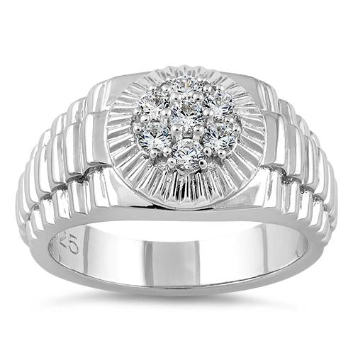 Sterling Silver Men's Premium CZ Ring