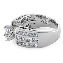 Load image into Gallery viewer, Sterling Silver Modern Round Cut Engagement CZ Ring