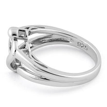 Load image into Gallery viewer, Sterling Silver Mother and Child Heart Ring