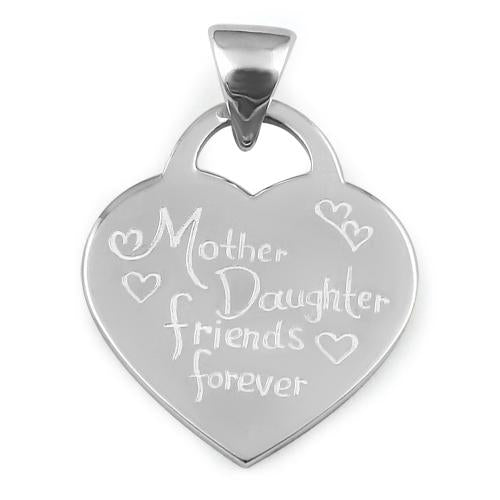 "Sterling Silver ""Mother Daughter Friends Forever"" Pendant"