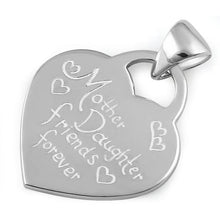 "Load image into Gallery viewer, Sterling Silver ""Mother Daughter Friends Forever"" Pendant"