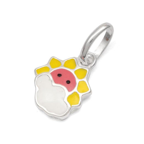 Sterling Silver Multi Color Enamel Sunshine Small Charm