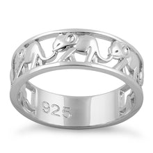 Load image into Gallery viewer, Sterling Silver Multiple Elephants Ring