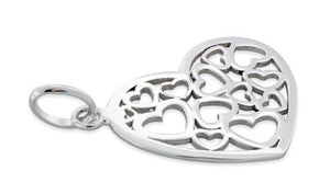Sterling Silver Multiple Heart Pendant