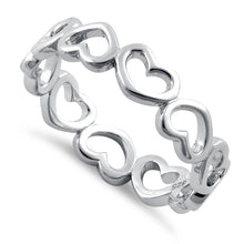 Load image into Gallery viewer, Sterling Silver Multiple Heart Ring